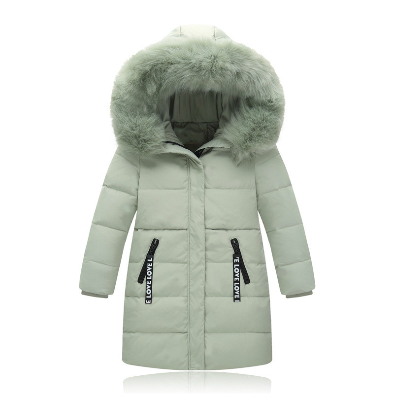 Outerwear & Coats Girls Clothing Hooded Girls Boys Coats Pakas Winter Warm Girls Down Coats Long Styls for Girls недорого