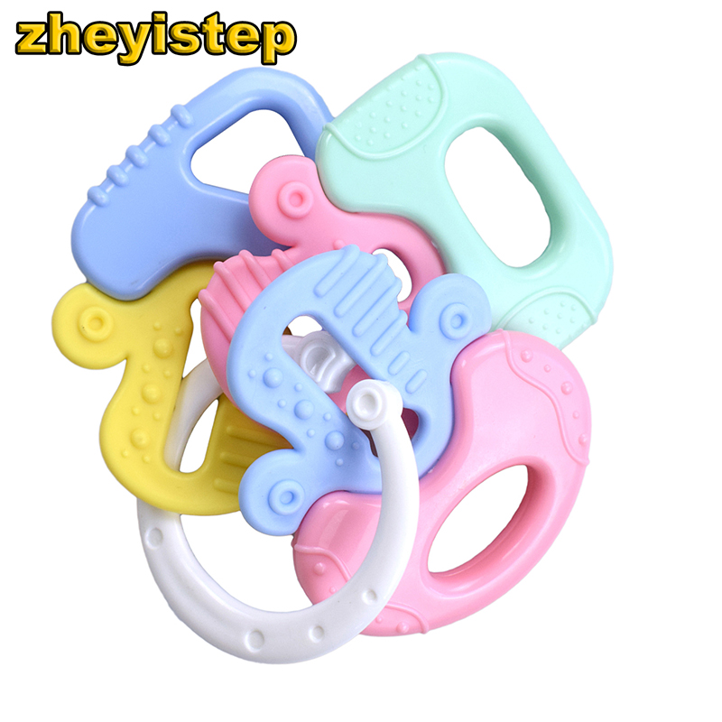 Colorful Teether Combination Baby Rattle Molar Plastic Ring Bed Bell Ring Newborn Toys 0-12 Months Teether Baby Educational Toys