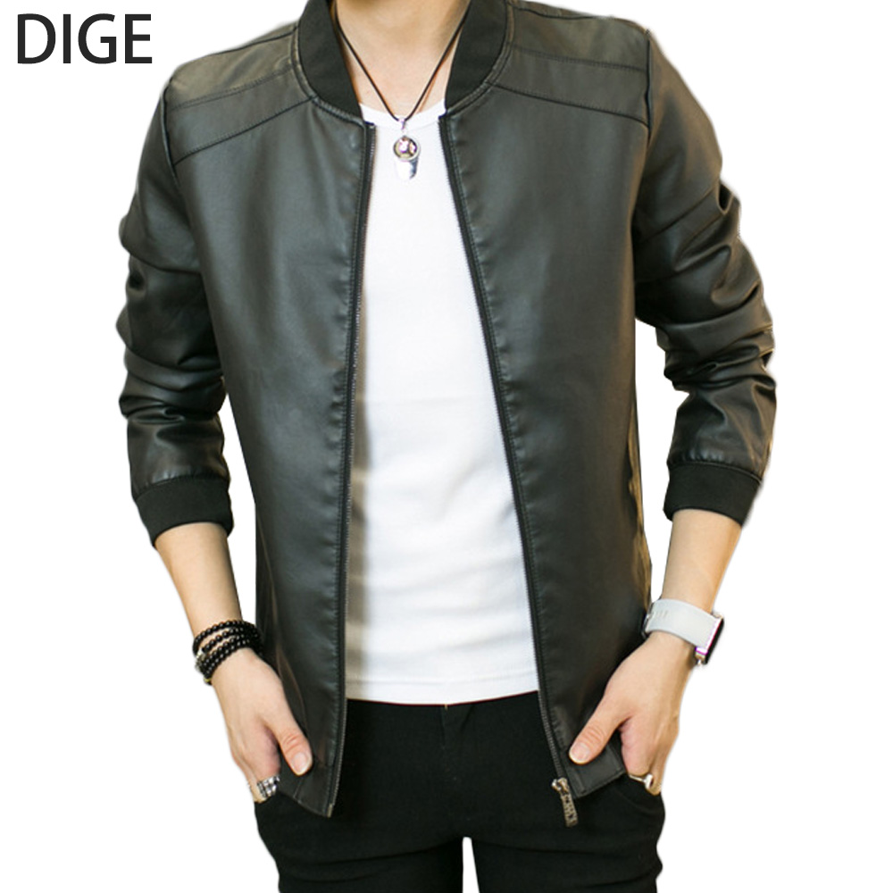 2016 New Arrival Leather Jackets Mens jacket Outwear Mens Coats Spring Autumn PU Jacket De Couro Coat Size M-4XL 1207