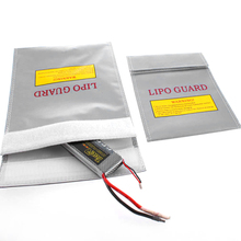 Fireproof RC LiPo Li-Po Battery Fireproof Safety Guard Safe Bag Charging Sack Battery Safety Protective Bag Safe Guard Silver