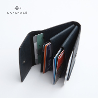 LANSPACE leather coin purse men's leather wallet mini purse unisex coin purses holders