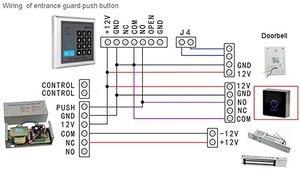 Image 4 - زر لمس أسود 12 فولت NC مفتاح عدم خروج الباب للتحكم في الوصول مع نوع مربع LED