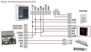 Image 4 - Cảm Ứng màu đen nút 12 V NC NO Cửa Exit Chuyển Phát Hành Button Cho Kiểm Soát Truy Cập Với LED Loại Hình Vuông