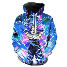 Plstar Космос брендовая мужская одежда карман с капюшоном Толстовка прохладный черный Гоку 3D печати балахон Galaxy Dragon Ball Z толстовки пуловеры