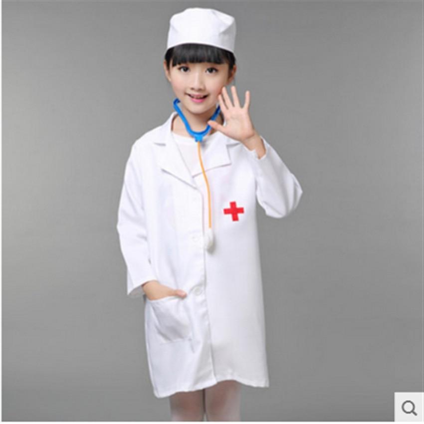 Children Halloween Cosplay Costume Kids Doctor Costume Nurse Uniform Free Shipping