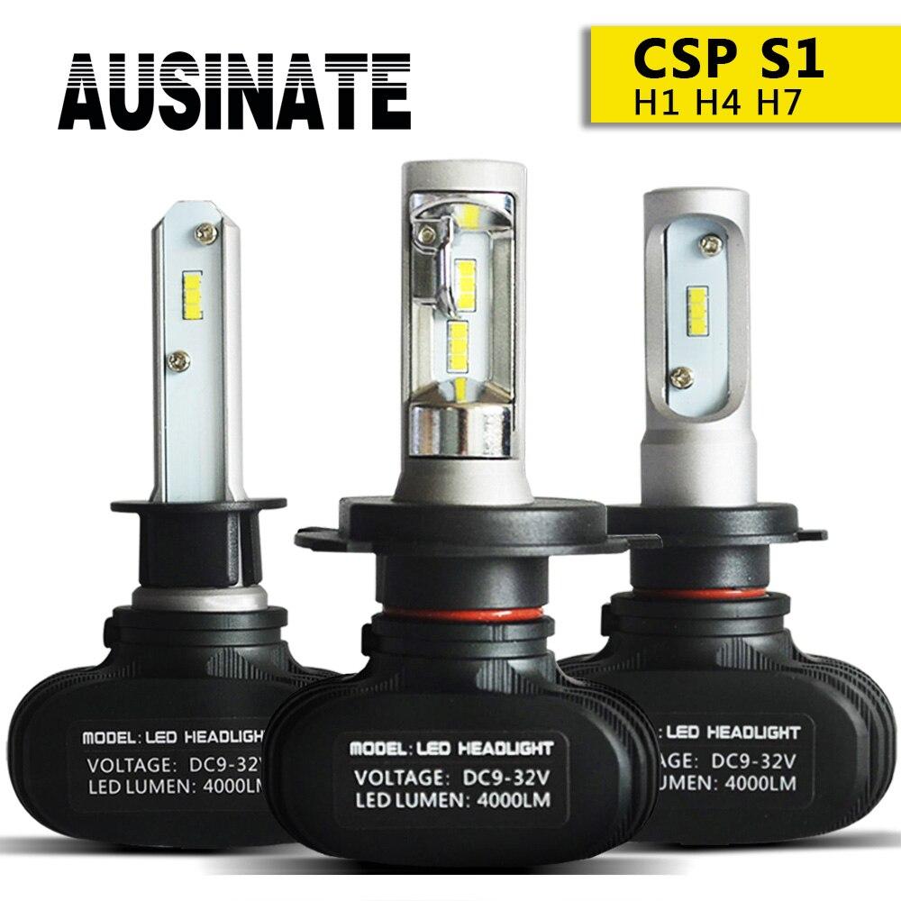 H4 Led H7 H1 H11 Auto Scheinwerfer Lampen S1 CSP Chips H3 H8 H9 HB3 HB4 9005 9006 LED Nebel licht 50 W 8000LM 6500 K Auto lichter