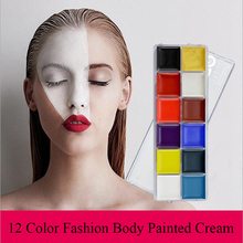 12 Colors Flash Tattoo Face Body Paint Oil Painting Fancy Dress Beauty VERONNI Makeup Color Art Use In Halloween Party Paints все цены