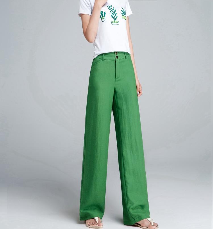Plus beige Gray Jambe Femelle red Pantalon Femmes Large Coton Haute green Lady black Taille Vêtements Nouveau 2018 Linge Light Marque Size Mince Office 79284 Eté Automne Filles qOwXxxBgT