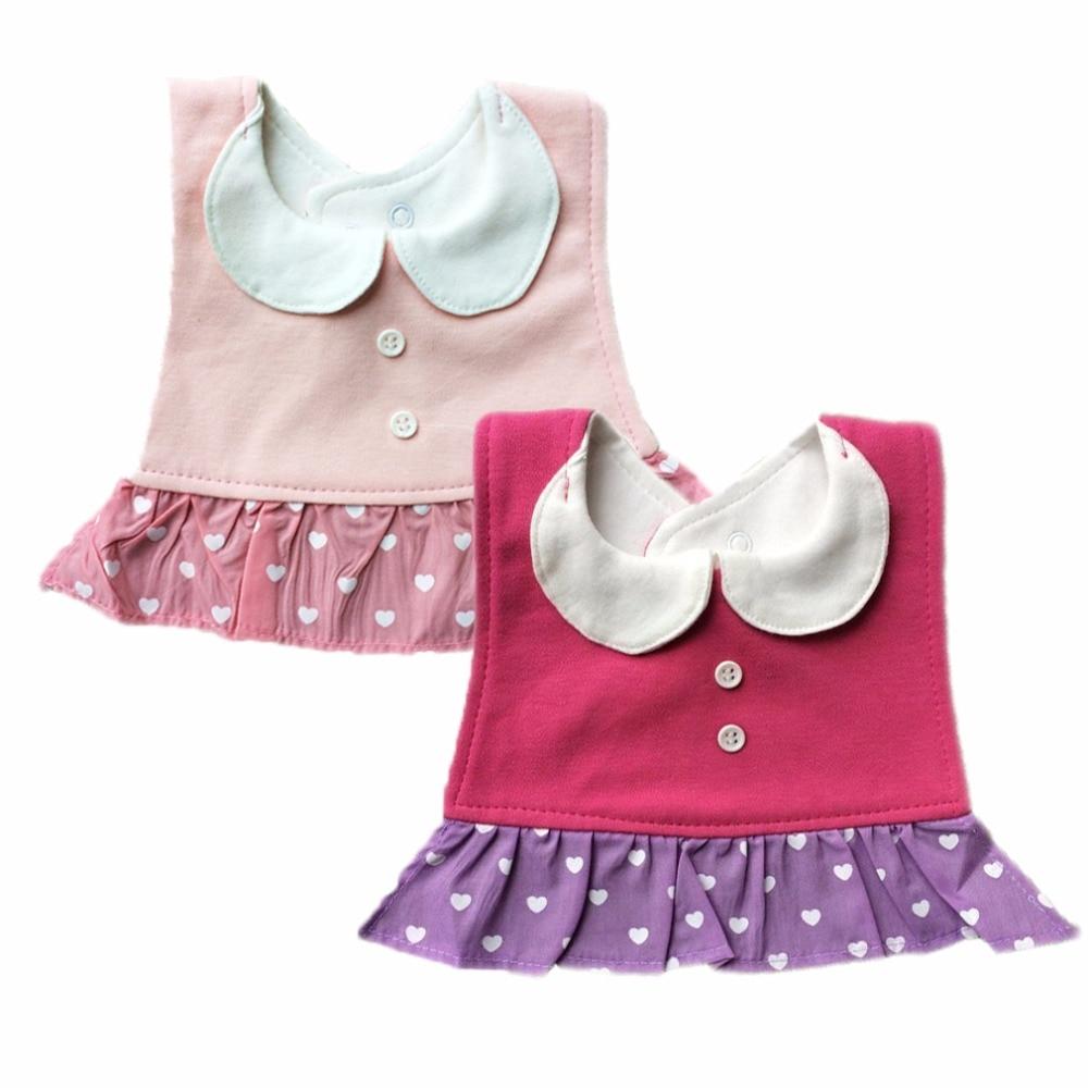 2pcs/set 3D Bow Tie Gentleman Baby Boys Bibs Adjustable Cotton Baby Girls Babador