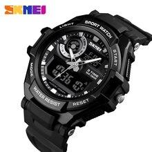 SKMEI cyfrowy zegarek mężczyźni S Shock sport zegarki wojskowe wodoodporna duża tarcza podwójny wyświetlacz kwarcowy zegar mężczyźni Relogio Masculino 1357