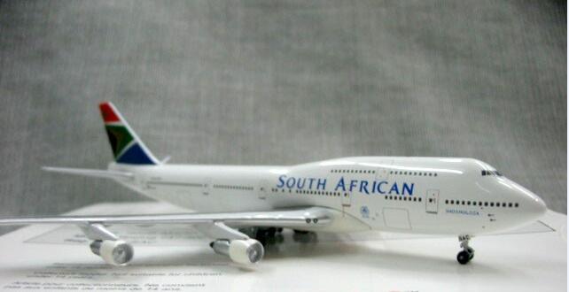 Out of print Genuino 1:500 Scala South African ZS-5AC 747-300 modello di aeromobile in lega Rara collezione modello solo