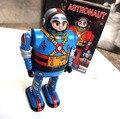 Retro Astrounaut Robot Terminan Juguetes Juguetes de Hojalata Clásicos Para Niños Artes Hechos A Mano de La Vendimia