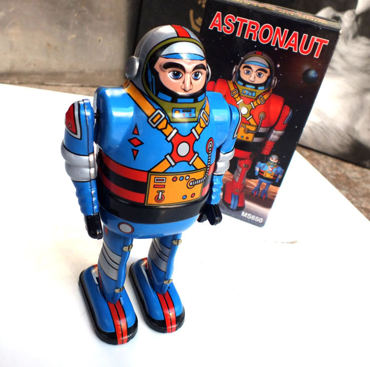 Classic Toys For Boys : Aliexpress buy retro astrounaut robot wind up toys