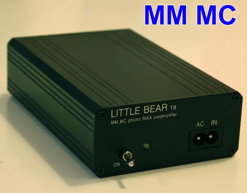 Nouvelle mise à niveau Ver1.2 T8 Phono platine MM / MC les deux RIAA préamplificateur préamplificateur amplificateur phono préampli + alimentation
