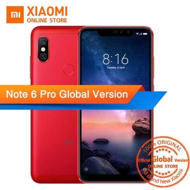 "Global Version Xiaomi Redmi Note 6 Pro Snapdragon 636 Octa Core 3GB 32GB 6.26"" Notch Full Screen Dual Camera 4000mAh Fingerprint"