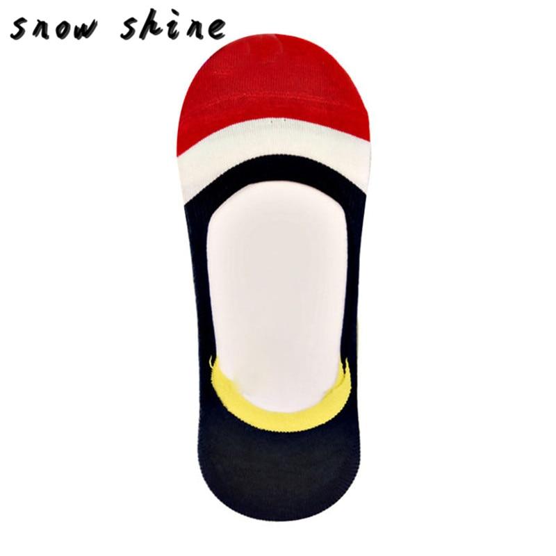 snowshine YLI Summer Womens Boat Socks Girls Silicone Non-slip Anti-off Invisible Socks free shipping