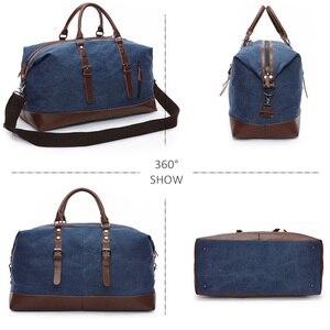 Image 4 - Scione erkekler tuval seyahat omuz bavul çanta büyük kapasiteli çanta iş rahat Vintage deri kadınlar için basit Tote çanta