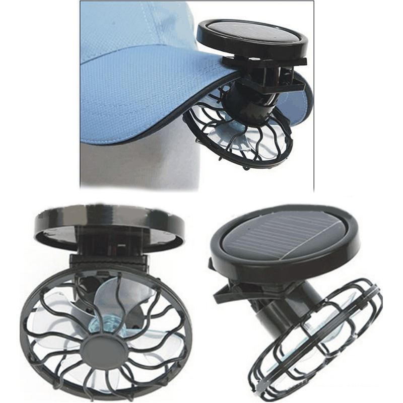New Energy Saving Clip-On Solar Cell Fan Sun Power Energy Panel Cooling is