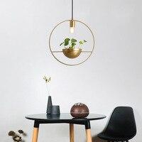Modern pendant lights led gold AC90 261V luminaire suspendu globe clear glass shade hanging lights luminaria pendente foyer