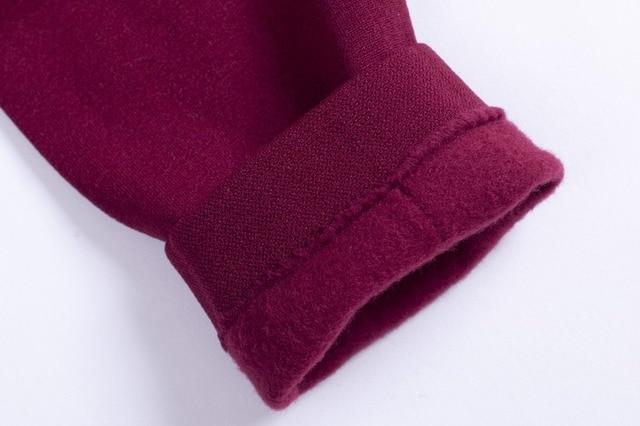 Women winter warm leggings skinny stretch fleece pants Women Casual Faux Velvet ankle-length Legging Knitted Thick Slim Leggings 5