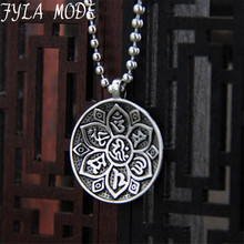 FYLA MODE S999  Sterling Silver Big Round Pendant Charms for DIY Necklace Jewelry Making Accessories Not Include Silver Chain