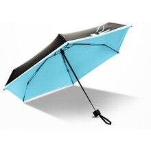Мини Творческих Складной Портативный Зонтик Алюминиевого Сплава Сильный Кадр Три Складные Зонтики Для Путешествий метеорных потоков D9440