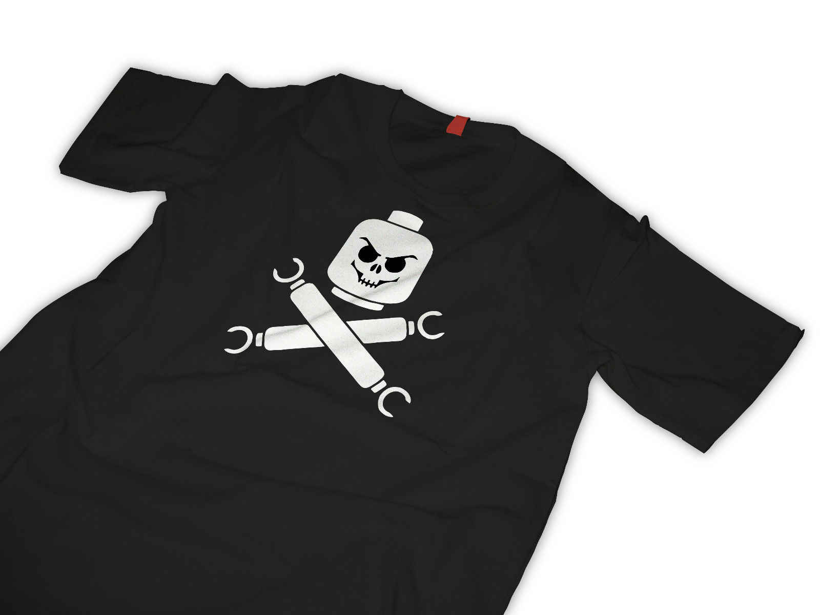 Футболка Lego пиратский череп и скрещенные кости крутая Повседневная футболка для мужчин унисекс новая модная футболка Бесплатная доставка Топы ajax