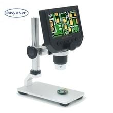 Discount! Portable 600X 3.6MP Digital Microscope 4.3″ LCD Electronic HD Video Microscopes USB Endoscope Magnifier Camera Al-alloy Stent