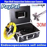 Bestwill Марка 30 м стенки трубы Канализационные инспекции Камера Системы, 30 м промышленных автомобилей Видео осмотр эндоскоп Камера