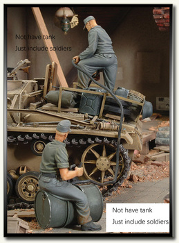 Conjunto de báscula sin pintar 1 35 WWII equipo alemán de repostaje tanque  de juguete histórico resina modelo miniatura Kit 8c7f26e9ae8