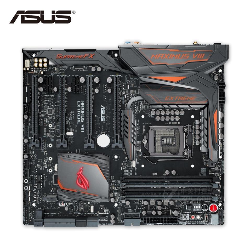 Asus MAXIMUS VIII EXTREME/ASSEMBLY Original Used Desktop Motherboard M8E/A  Z170 LGA 1151 i7 i5 i3 DDR4 E-ATX  for asus maximus vi extreme original new desktop motherboard m6e for intel z87 socket lga 1150 for i7 i5 i3 ddr3 32g usb3 0 atx