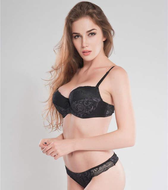 88e0078826d Intimates Set Women plus size Bra Sets Embroidered Flora Lace Thong Bra And Panty  Set C D E