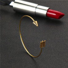 Gold Color Knot Arrow Opening Bracelets for Women Girl Bohemian Metal Adjustable Bracelet Bangle Statement Jewelry