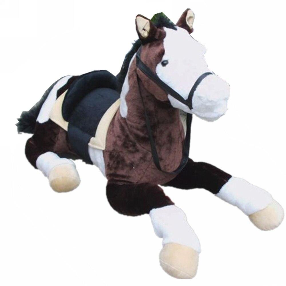 Fancytrader гигантские плюшевые реалистичные лошадь игрушка Большая мягкая моделирование лошадь кукла 110 см 43 ''приятные подарки и фотография оп