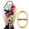 H ручной работы специально созданных Платок Кольцо клип Scarve Застежка шелковый шарф пряжки кольцо женской моды подарок
