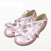 2016ใหม่ฤดูใบไม้ผลิรองเท้าโลลิต้าหวานเจ้าหญิงรองเท้าประดับด้วยเลื่อมโบว์ต่ำข้ามสายM Erchandiserผู้หญิงรองเท้าแฟลต