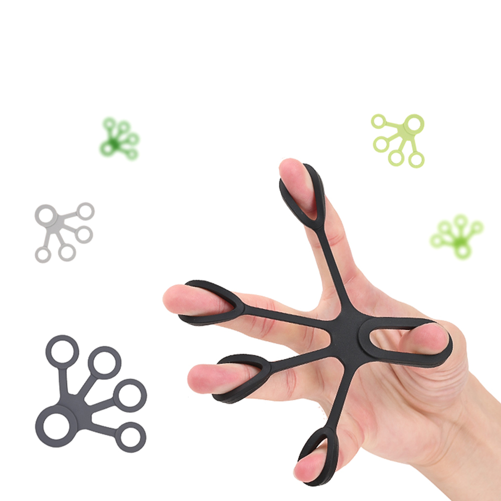 Silicone Fingers Hand Grip Strengthener Finger Exerciser Grip Strength Trainer Hand Resistance Band Hand Extensor Exerciser
