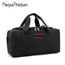 MeiyaShidun Men HandbagsTrip Large Capacity Overnight bag Women Luggage Travel Duffle Bags Canvas Weekend Portable tote mochilas