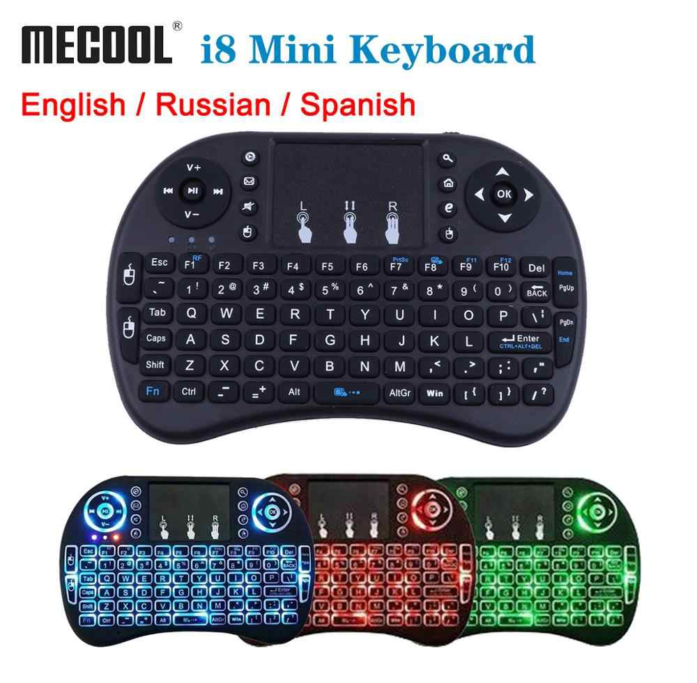 Mecool Mini Draadloze Toetsenbord Engels 2.4GHz i8 Touchpad Fly Air Mouse Voor Android TV Box Afstandsbediening MINI PC met Touchpad
