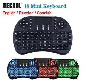 Image 1 - Mecool Mini Draadloze Toetsenbord Engels 2.4Ghz I8 Touchpad Fly Air Mouse Voor Android Tv Box Afstandsbediening Mini Pc met Touchpad