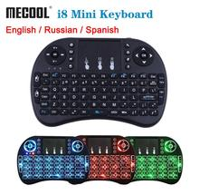 Mecool miniteclado inalámbrico i8, 2,4 GHz, inglés, Touchpad Fly Air Mouse para Android TV Box, mando a distancia, Mini PC con Touchpad