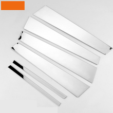lsrtw2017 stainless steel car window trims for honda accord 2008 2009 2010 2011 2012 2013 8th