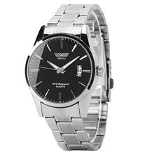 SWIDU Men's Stainless Steel Band Date Analog Quartz Sport Wrist Watch Colour Black