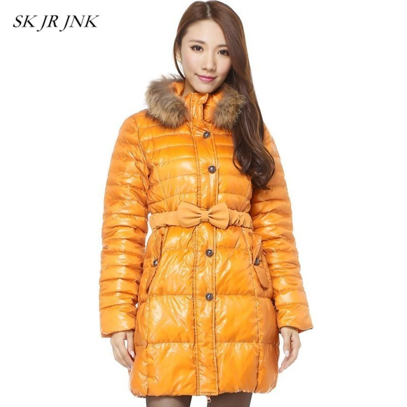 Down Coats Jackets & Coats Warm Lamb Long Winter Jacket Coat Women Silver Loose 90% White Duck Jacket Fashion Plus Size Parka Feather Overcoat Female Ss030