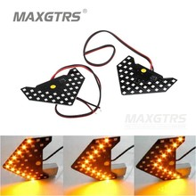 2pcs/lot Universal Fit Ultra Slim Sequential Flashing 33 SMD 1210 Auto LED Side Mirror <<< LED Turn Signal Arrows Amber Yellow