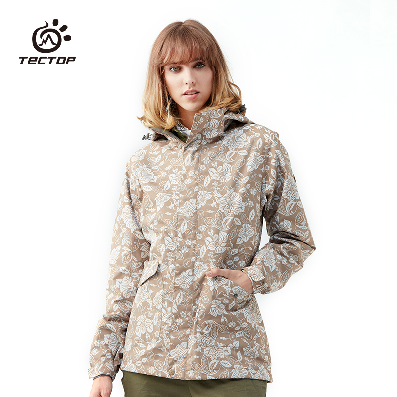 New Arrival Winter Waterproof Suit Sport Travel Camping Outdoor Female Garment Printing Hiking Jacket Women Hunting Clothes yin qi shi man winter outdoor shoes hiking camping trip high top hiking boots cow leather durable female plush warm outdoor boot