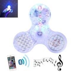 New led bluetooth speaker finger spinner spiner with star projector fidget hand skinner for toy gift.jpg 250x250