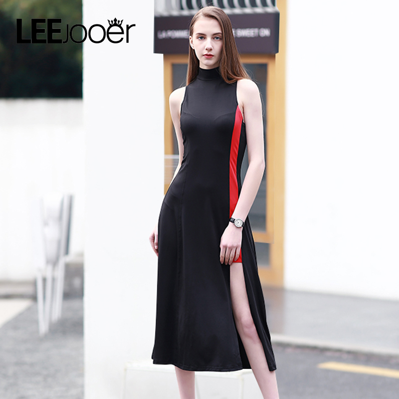 Buy Cheap LEEJOOER 2017 New Summer Dress Women Fashion Elegant Party Black Dress European Style Sexy Club Streetwear Women Dresses