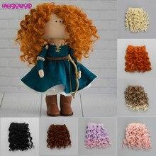 15*100cm vis Extensions de cheveux bouclés pour toutes les poupées bricolage cheveux perruques résistant à la chaleur fibers cheveux trames