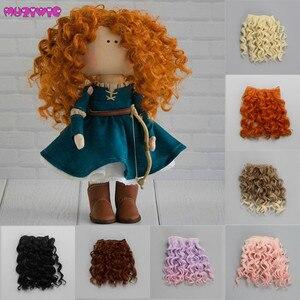 Image 1 - Extensão de cabelo encaracolado de 15*100cm, perucas de cabelo para todas as bonecas, fibra resistente ao calor